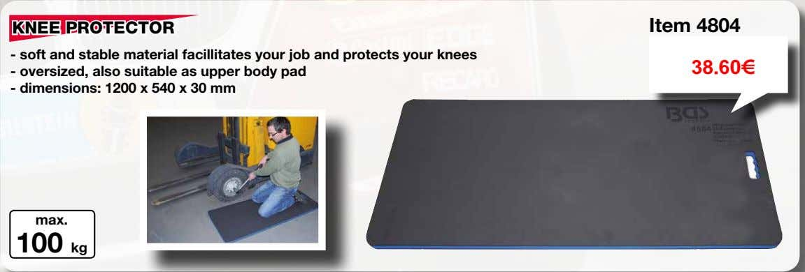 KNEE PROTECTOR Item 4804 - soft and stable material facillitates your job and protects your