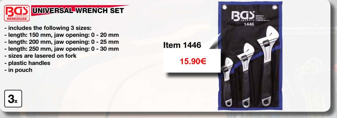 lasered on fork 15.90€ - plastic handles - in pouch 3x CHISEL AND PUNCH SET made