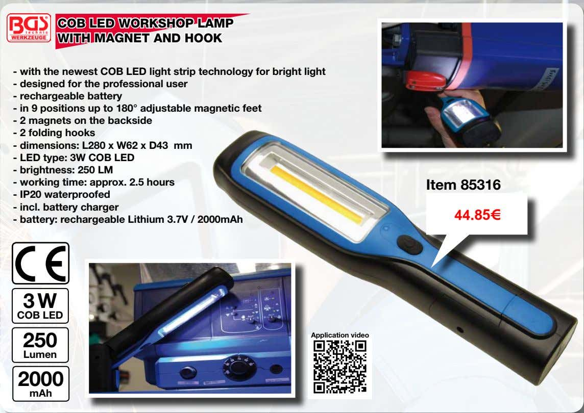 COB LED WORKSHOP LAMP WITH MAGNET AND HOOK - with the newest COB LED light
