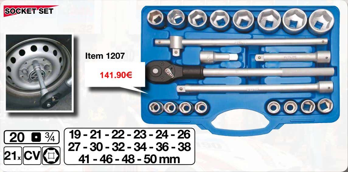 SOCKET SET Item 1207 141.90€ 19 - 21 - 22 - 23 - 24 -