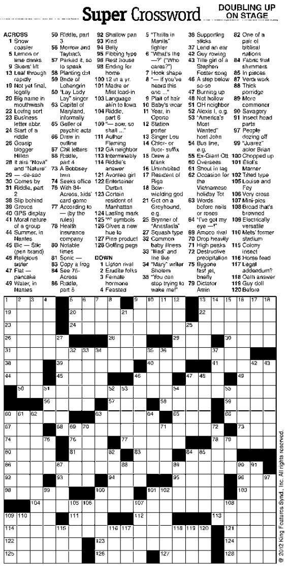 POST Sunday, September 16, 2012 ◆ CROSSWORD CORNER Puzzle answers, Page 7 Meet Lucy Lucy is