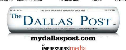 mail your ballot send it to: The Dallas Post,, Best of the Back Mountain,, 15 North