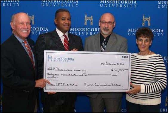at 270-2160. FRONTIER SUPPORTS MU SPEECH-LANGUAGE PATHOLOGY Frontier Communications recently presented a check to the