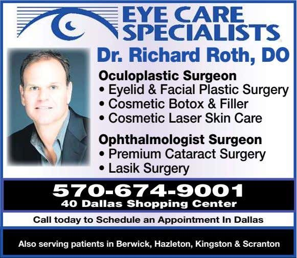 Dr. Richard Roth, DO Oculoplastic Surgeon • Eyelid & Facial Plastic Surgery • Cosmetic Botox