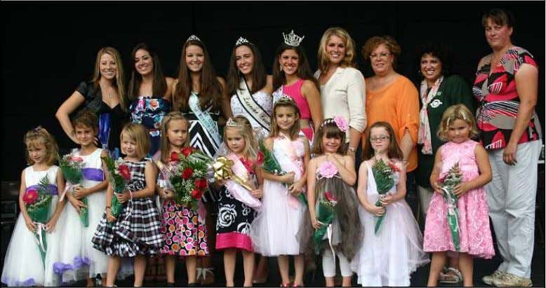 as Alex Sergay of Blue Chip Farms Animal Refuge assists. The 2012 Luzerne County Fair Princess