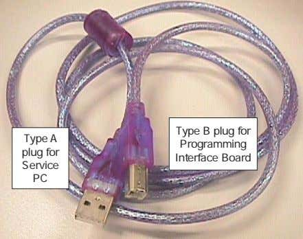 Type A plug for Service PC