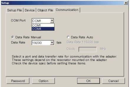COM Port number from the COM port drop down list. Figure 15 Choose COM Port and