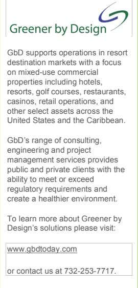 GbD supports operations in resort destination markets with a focus on mixed-use commercial properties including