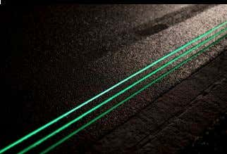 Smart Highway concept by Studio Roosegaarde Super Surfaces Glowing Lines, part of the Smart Highway concept
