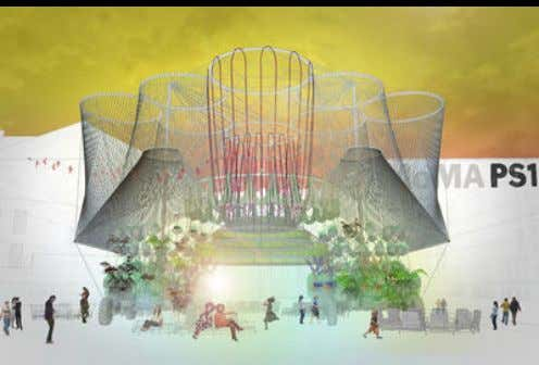 Water-purifying structure by Andrés Jaque, winner of the Young Architects Program at MoMA PS1 WHOLE-SYSTEM