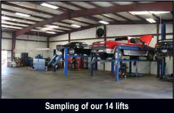 Sampling of our 14 lifts