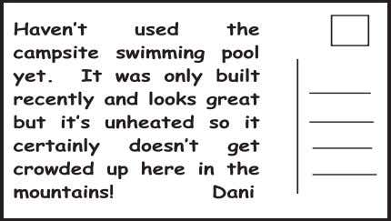 is free if you use the computers in the library. 24. Dani hasn't used the swimming