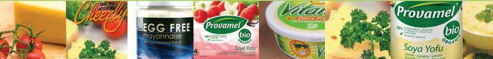 Tasty alternatives to dairy and eggs Soya milks • Supermarket own brands • Holland &