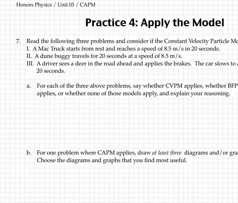 the situation. whether none of those models apply, Choose the diagrams and graphs that you –