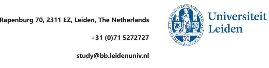 Complete Address Rapenburg 70, 2311 EZ, Leiden, The Netherlands Phone / Fax +31 (0)71 5272727 Email