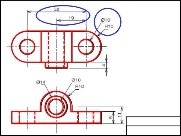 Elements of a Drawing A clear and precise engineering drawing requires both graphics and word languages.