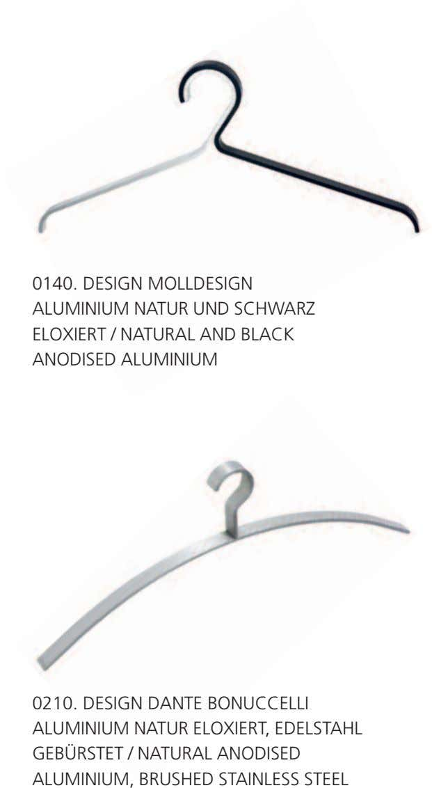 0140. DESIGN MOLLDESIGN ALUMINIUM NATUR UND SCHWARZ ELOXIERT / NATURAL AND BLACK ANODISED ALUMINIUM 0210.