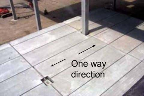 One way direction
