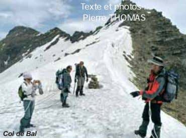 Texte et photos : Pierre THOMAS Col de Bal