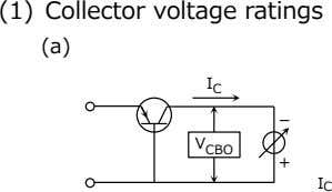 (1) Collector voltage ratings (a) I C - V CBO + I C