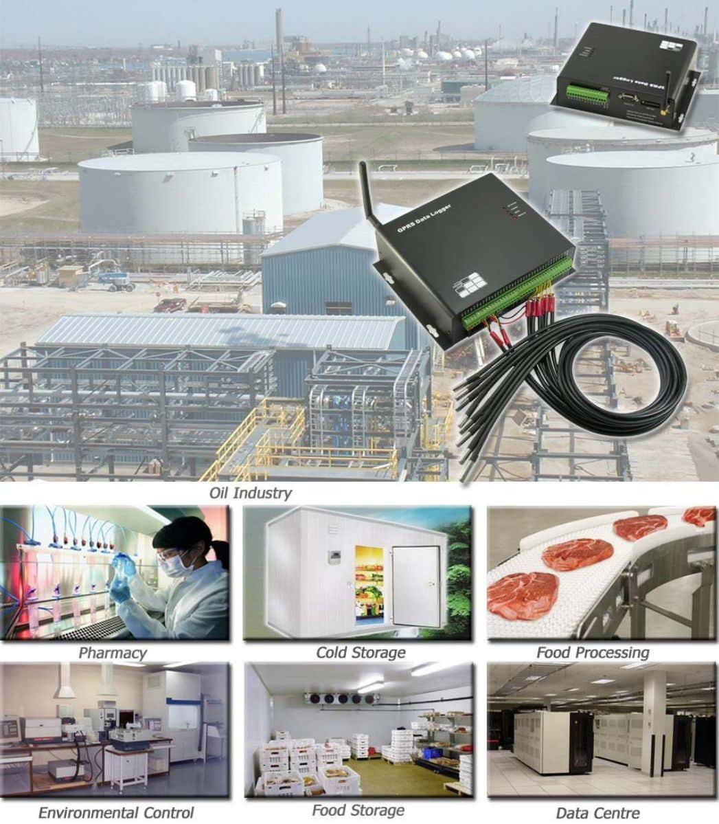 SMS Data Logger GSMS ‐ THR ‐ HV Application It can be utilized in monitoring the