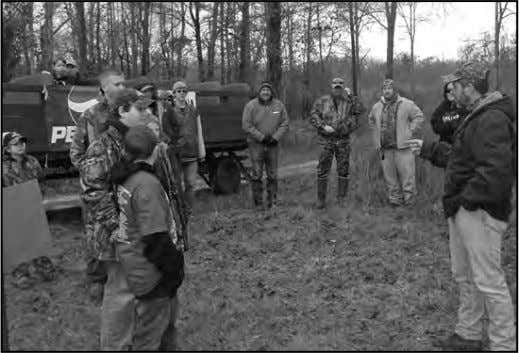 BARBOR COUNTY YOUTH HUNT – continued Charles Thompson provides a most important firearm safety talk prior