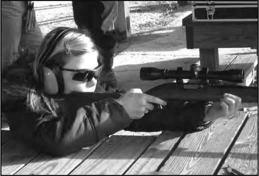 locale. It takes outdoorsmen to mentor and train future out- 12-yr . old Calleigh Rinicker provided