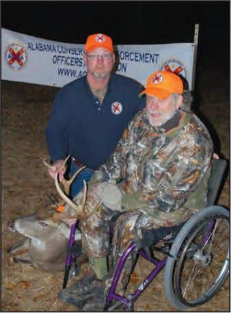 Sedgefield Plantation Deer Management Program by harvesting two does. Stan doesn't let his disability slow him