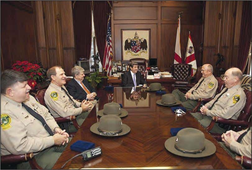 Governor Riley in his office at the Alabama State Capitol MONTGOMERY - Game Wardens from the