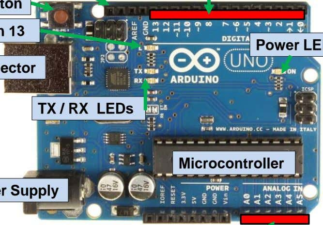 TX / RX LEDs Microcontroller
