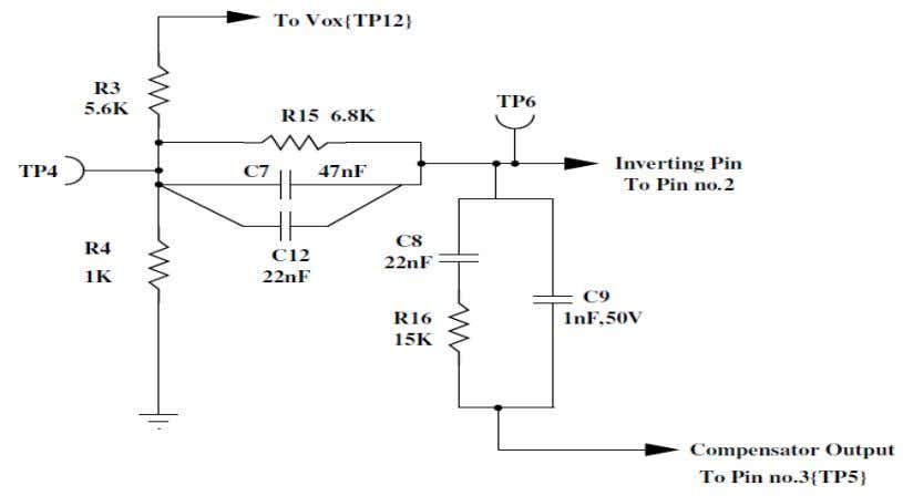 lag at low frequencies which reduces the steady state error. Fig.6.2 Feedback Circuit The dc gain