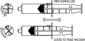 FREE SLIDING USE LOCKS TO HOLD VACUUM