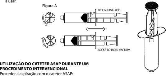 a usar. Figura A FREE SLIDING USE LOCKS TO HOLD VACUUM uTIlIzAçãO dO CATETER ASAP