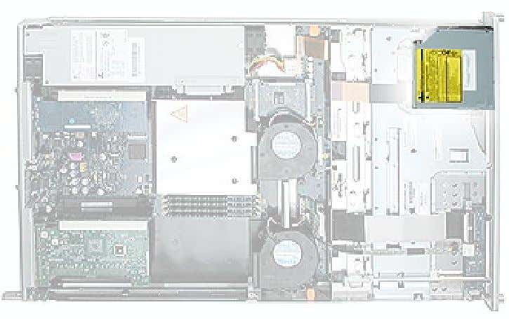 the bottom housing on a sturdy, flat surface. Part Location Optical Drive, Xserve (Slot Load) Xserve