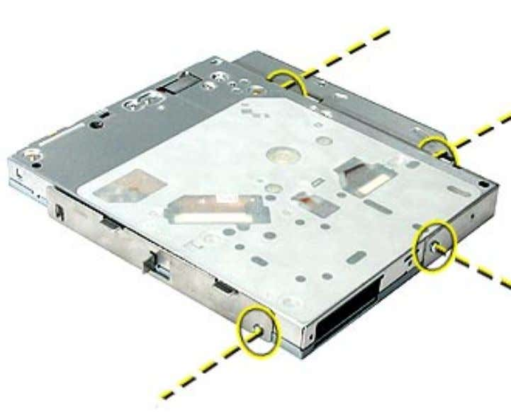 to the new drive, again using the same screws to secure it. Optical Drive, Xserve (Slot