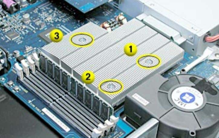 indicated to affix the heatsink securely to the processor. • Replace the heatsink duct on the
