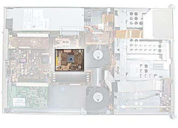 housing on a sturdy, flat surface. • Remove the heatsink. Part Location Processor, Xserve Xserve Take