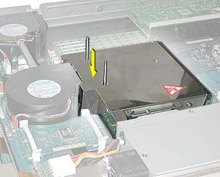 in the area directly over the processor's connector. 32 - Xserve Take Apart Processor, Xserve (Slot