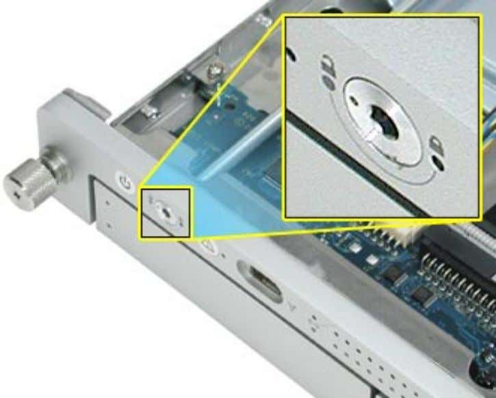 "aligns with the ""unlocked"" symbol on the front bezel. 3. Pull back the latch that secures"