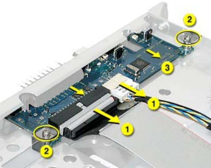 3. Slide the board back and remove it from the server. Important: When replacing the front