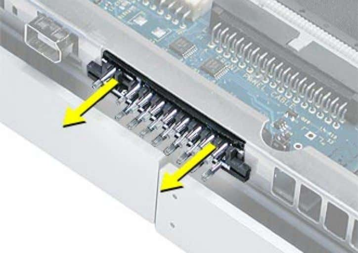 2. Remove the light pipe assembly from the server. Replacement Procedure 1. Remove the bottom row