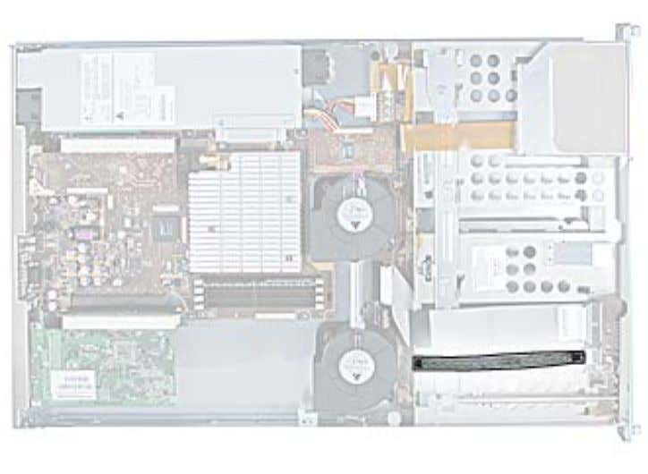 the server and place the bottom housing on a sturdy, flat surface. Part Location FireWire Cable