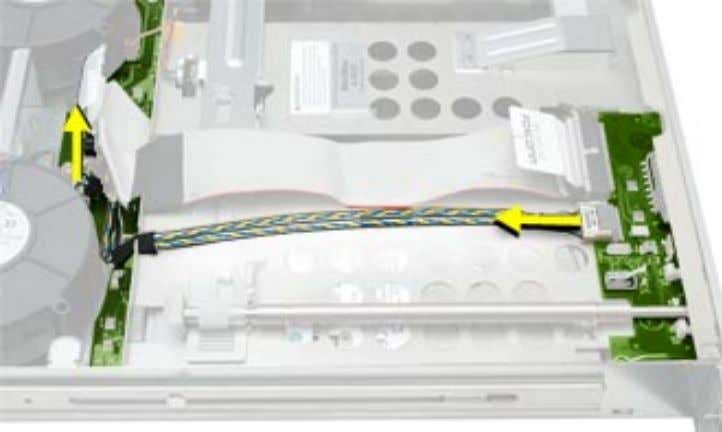 cable from the drive interconnect board and remove the cable from the server. 62 - Xserve