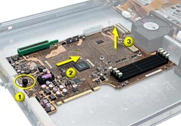 clear the chassis. 4. Remove the board from the server. Replacement Note: Before installing the replacement