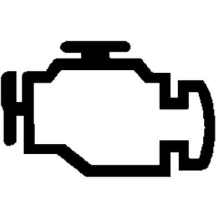 EQUIPMENT Instrument Cluster - Service Information - Nitro Fig. 28: Malfunction Indicator Lamp Courtesy of CHRYSLER