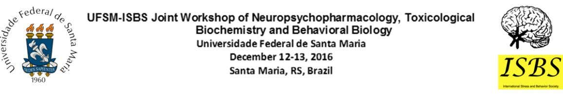 COGNITIVE AND CHOLINERGIC APPRAISEMENT OF MICE EXPOSED TO THE DIAZINON FOR 10 DAYS Sabrina Souza
