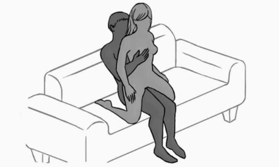 since the man can caress his woman as she straddles him. 36. Kneeling: A sex position