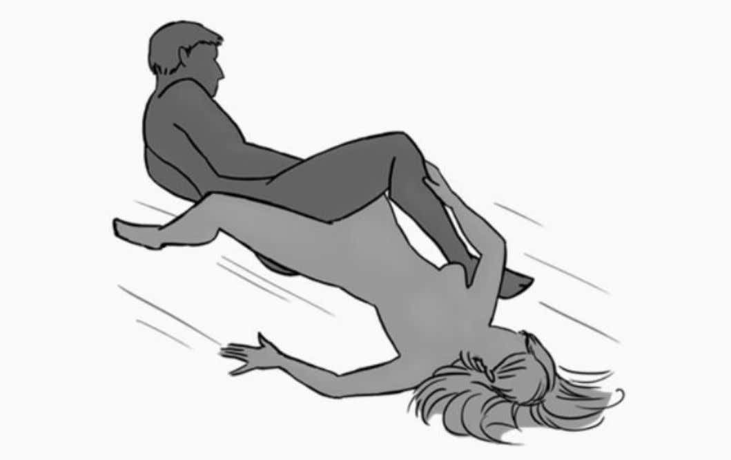 9. Sitting Bull: Enter this positon with a woman lying on her back.