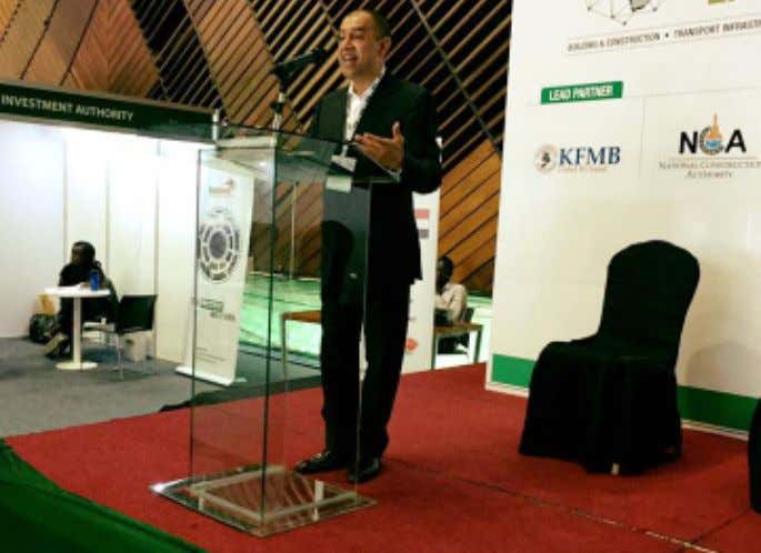 NEWSLETTER Our board treasurer - Madhur Ramrakha speaking at the Infrastructure East Africa Exhibition on Green