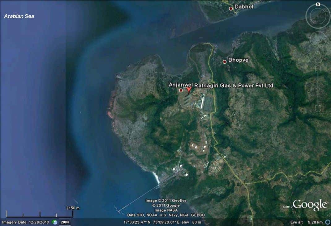 Including the Liquid Bulk Terminal Jetty and Gas Storage Areas. (Adapted from: Google Earth) Semester September